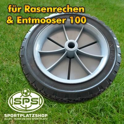 Ersatzrad, Rad, Reifen, Ersatzreifen, Rasenrechen, Entmooser