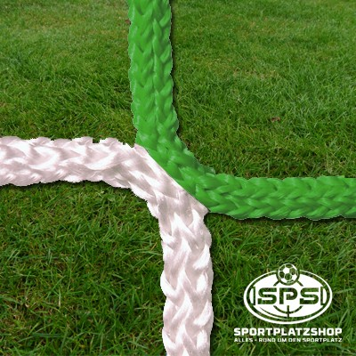 Fußballtornetz, Kleinfeldtor Netz Grün-Weiß