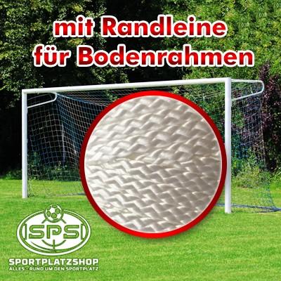 Fußballtor mit Netzbügel, Bodenrahmen mit Randleine Netzbefestigung