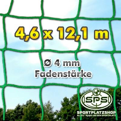 konfektioniertes Ballfangnetz grün - 12,1 x 4,6 m