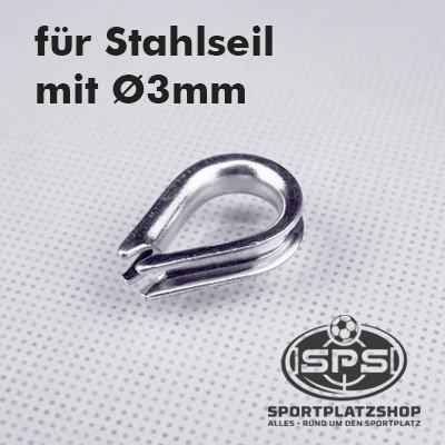 Kausche, Stahlseil, Ballfanganlage
