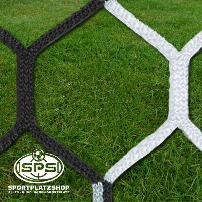 Fußballtornetz, Großfeldtor Netz Schwarz-Weiß