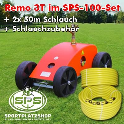 Remo 3T Selbstfahrender Sportplatzregner inkl. Schläuche
