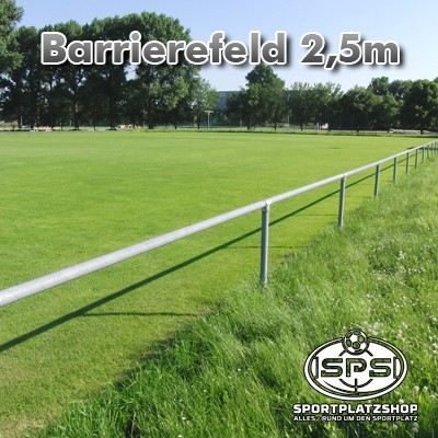 ALU Barriere 2,5 m Feld komplett