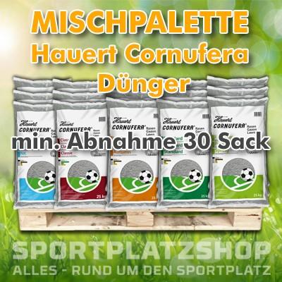Mischpalette Hauert Cornufera, Dünger, Rasendünger, Sportplatzdünger, Grasdünger, Sportrasendünger