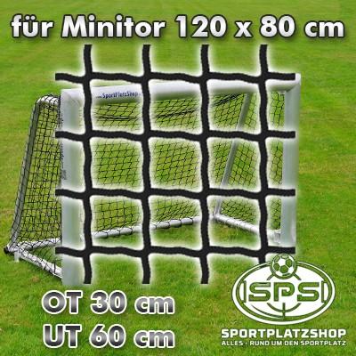 Fußballtornetz, Minitor Netz schwarz 120 x 80 cm