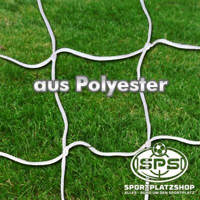 Fußballtornetz, Kleinfeldtor Netz Weiß aus Polyester