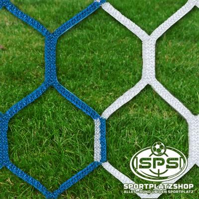 Fußballtornetz, Großfeldtor Netz Blau-Weiß
