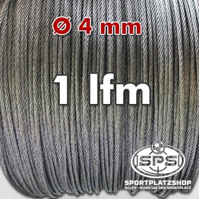 Stahlseil, Drahtseil, Seil, Ballfangnseil, verzinktes Stahlseil, verzinkt