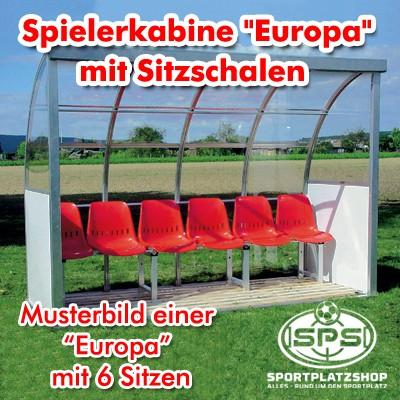 """Spielerkabine """"Europa"""" mit Schalensitzen"""