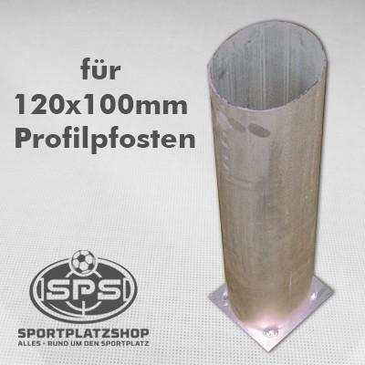 Bodenhülse für 120x100 Profil