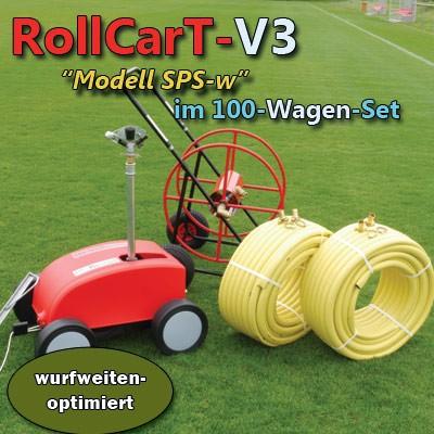 RollCarT-V3 im 100-Wagen-Set, Großflächenregner, Sportplatzregner