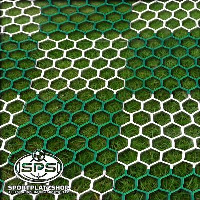Fußballtornetz, Großfeldtor Netz Schachbrett Grün-Weiß
