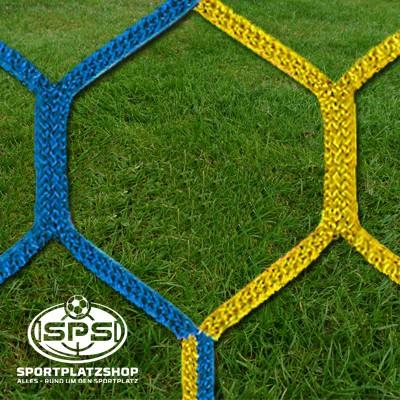Fußballtornetz, Großfeldtor Netz Gelb-Blau