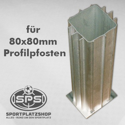 Bodenhülse für 80x80 Profil