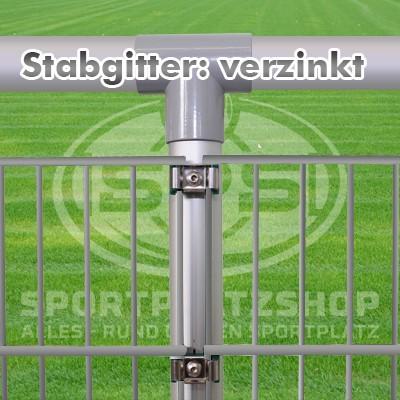 Barriere, Sportplatzbarriere, Sportplatzumrandung, Alu-Barriere, Stabgitterzaun, Stabmattenzaun