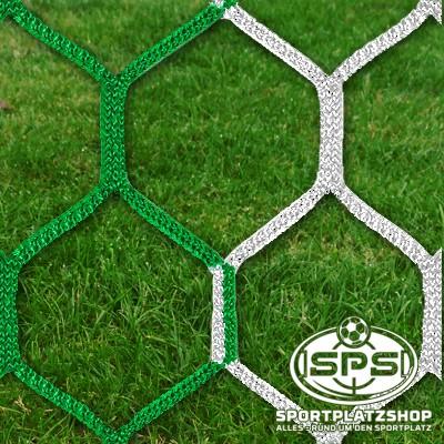 Fußballtornetz, Großfeldtor Netz Grün-Weiß