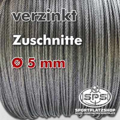 Stahlseil verzinkt, Stahlseil, Drahtseil, Seil, verzinktes Stahlseil