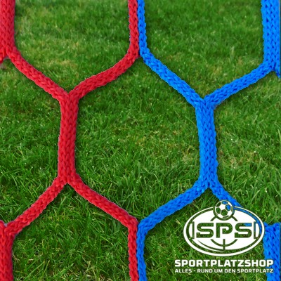 Fußballtornetz, Großfeldtor Netz Blau-Rot