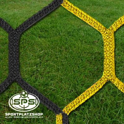 Fußballtornetz, Großfeldtor Netz Gelb-Schwarz