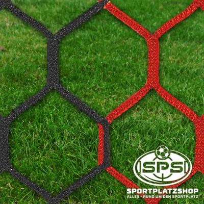 Fußballtornetz, Großfeldtor Netz Rot-Schwarz