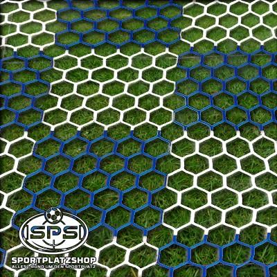 Tornetz 7,5 x 2,5 m Schachbrettmuster Blau/Weiß, Großfeldtornetz