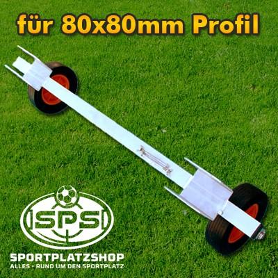 Transportachse für 80x80mm Profil