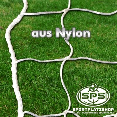 Fußballtornetz, Kleinfeldtor Netz weiß Nylon