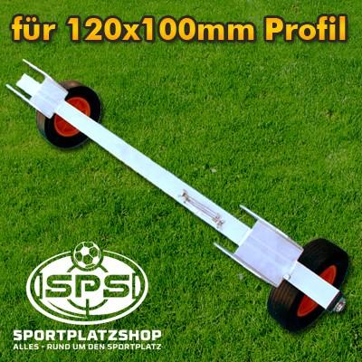 Transportachse für 120x100mm Profil